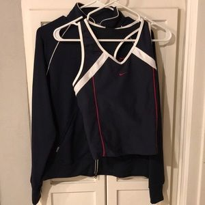 Jacket and workout shell set Nike navy